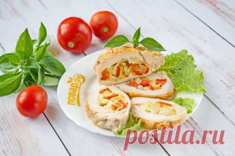 Фаршированная грудка индюшки овощами - пошаговый рецепт с фото на Повар.ру