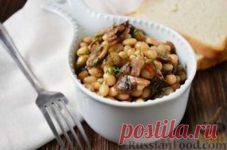 Рецепт: Постный салат с грибами и фасолью на RussianFood.com
