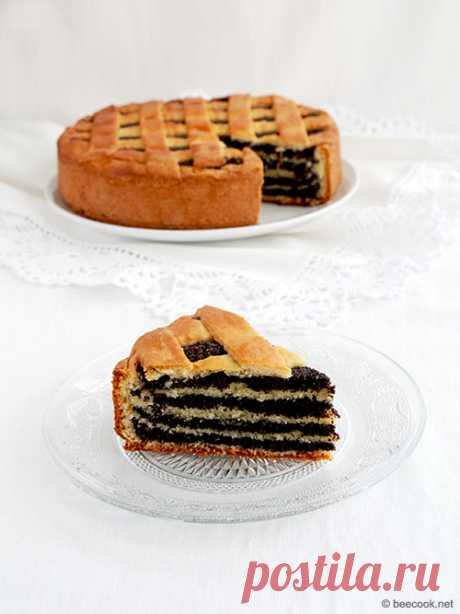 Пирог с маком - beecook.net Простой пошаговый рецепт приготовления пирога с маком из творожного теста.
