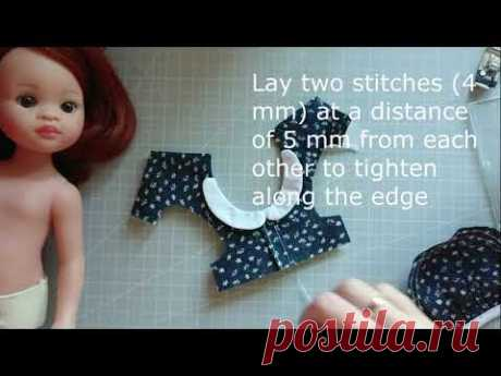 """Tutorial Sewing Dress for Dolls Paola Reina 13"""""""