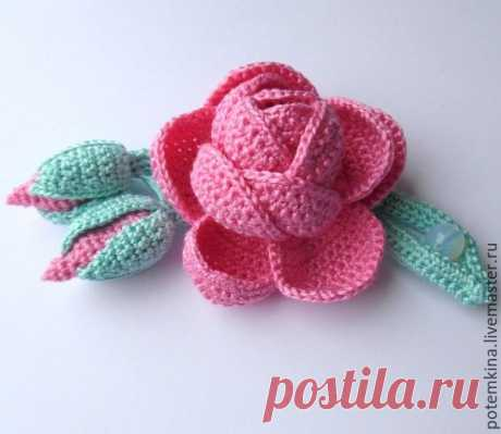 Rosette on a branch for finishing of products, the author Potemkina Tatyana. M, To,