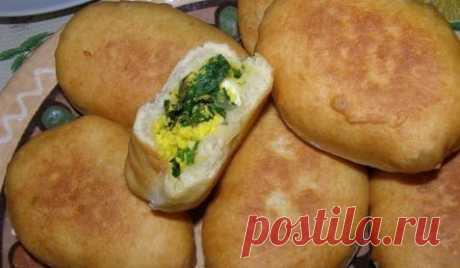 Творожные пирожки с яйцом и зеленью