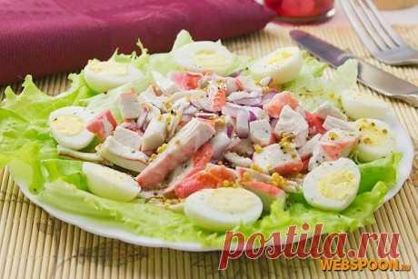 Салат с крабовыми палочками | Рецепт крабового салата с фото | Салат с яйцом и крабовым мясом на Webspoon.ru