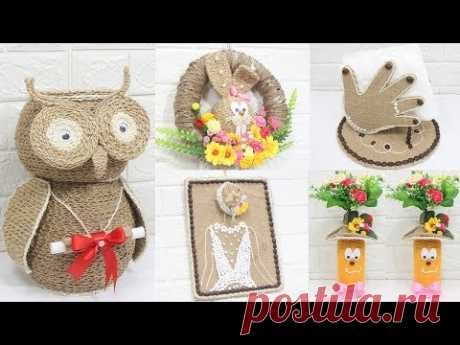 Beautiful home decoration idea with waste items | Home decorating ideas handmade
