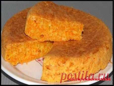"""Пирог-десерт """"Маня Морковкина"""" Ингредиенты: -Морковь (мелко тёртая) — 2 стак. -Манка — 1 стак. -Мука — 1 стак. -Яйца — 2 шт -Сахар — 1 стак. -Ваниль — 1 упак. -Сода (гашеная уксусом или разрыхлитель) — 1 ч. л. -Кефир (йогурт) — 1 стак. -Масло сливочное (маргарин) — 150 г Приготовление: 1.Залить манку кефиром и оставить на 20-30мин 2. Натереть морковь на мелкую тёрку и отжать сок - чем суше, тем лучше. Я использую мякоть, остав"""