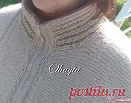 """Жакет -куртка """"Гоби """" на молнии от Shayta. Авторская работа. - Вязание - Страна Мам"""