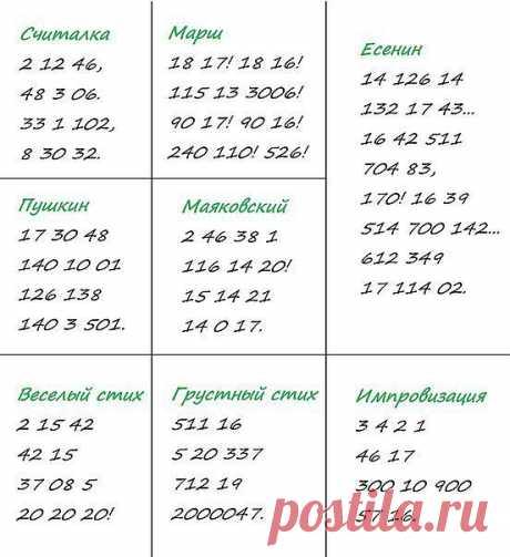 """""""Цифровые"""" стихи"""
