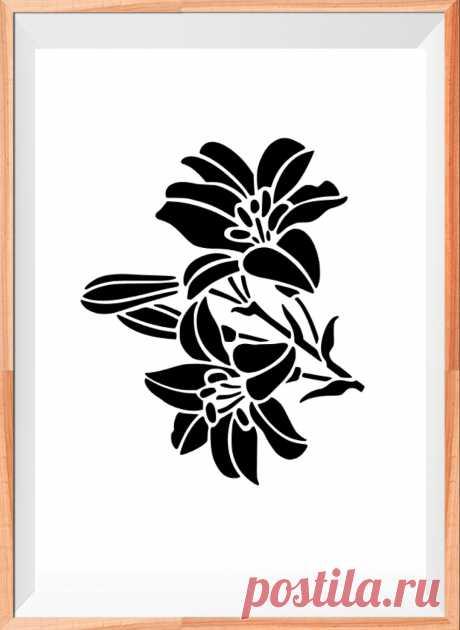 FLOWER ROSE MYLAR STENCIL CRAFT HOME DECOR PAINTING WALL ART 125//190 MICRON