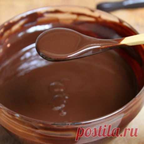 Several councils for preparation of chocolate glaze