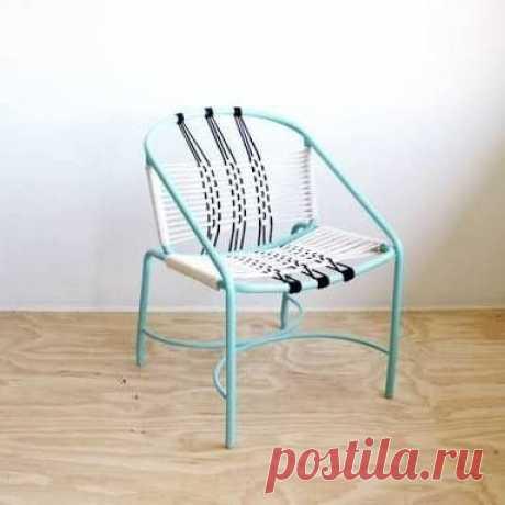 Кресла из шнуров и веревок (подборка)