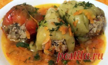 Перец фаршированный. 2 очень вкусных рецепта фаршированного перца с мясом и рисом и 2 видео - Копилка идей