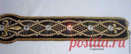 Вышитые бисером украшения и аксессуары от Натальи Сорокиной. Пояса