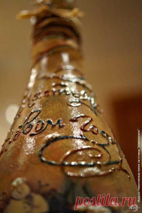 Декупаж - Сайт любителей декупажа - DCPG.RU | Шампанское, №10: «Снежные выдумки»