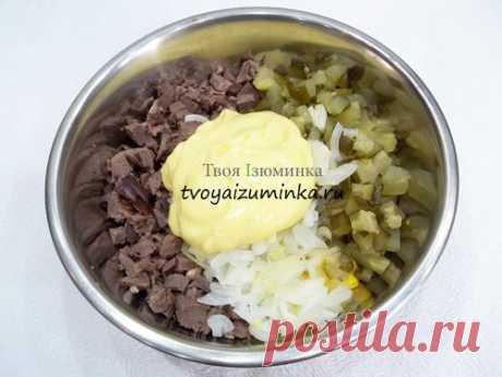 Простой и вкусный салат из свиного сердца с соленым огурцом | Colors.life