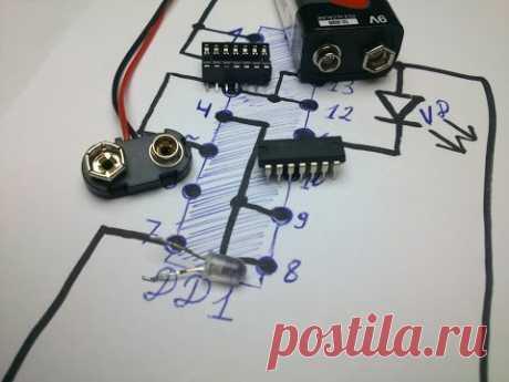 Простой детектор скрытой проводки своими руками :)