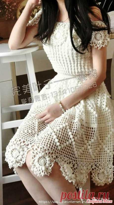 Белое платье для романтического настороения