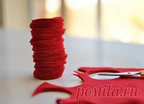 Варианты украшений из фетра ко Дню Святого Валентина