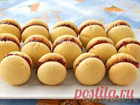 Быстрое и вкусное печенье с малиновым джемом » Всем За Стол!