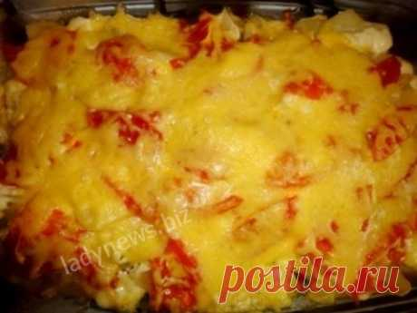 Запеченный картофель с мясом, помидорами и сыром - вкусный рецепт