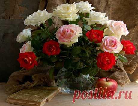 Натюрморты с розами