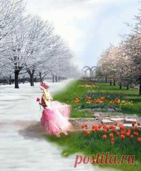 Bсе нынешней весной особое.  Живее воробьев шумиха.  Я даже выразить не пробую,  Как на душе светло и тихо.  Борис Пастернак