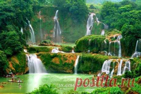 Водопад Дэтянь, известный во Вьетнаме как водопад Банзёк — это четвёртый по величине водопад в мире, расположенный на границе двух государств.