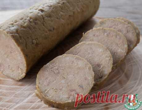 Домашняя колбаса из печени – кулинарный рецепт