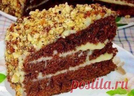 Шоколадный торт на кефире «Фантастика».Попробуйте обязательно! Очень простой и необычный рецепт вкусного торта. Приготовить сможет любой. Ингредиенты: Для...