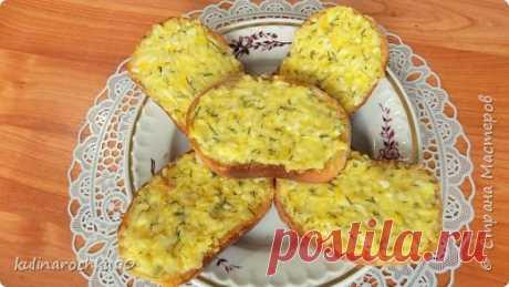 Горячие бутерброды в духовке с яйцом и сыром