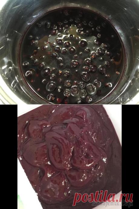 Острый соус из чёрной смородины