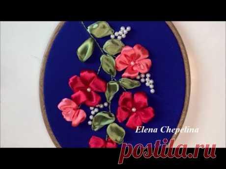 Красивые цветы из ленты. Как вышить простые цветы лентами своими руками.