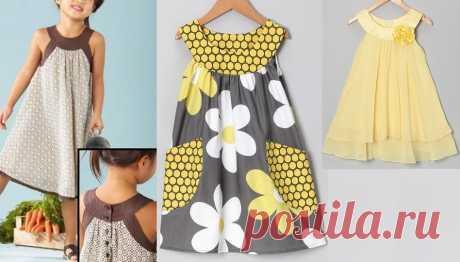 Оригинальные платья для девочек - выкройки и идеи » Женский Мир