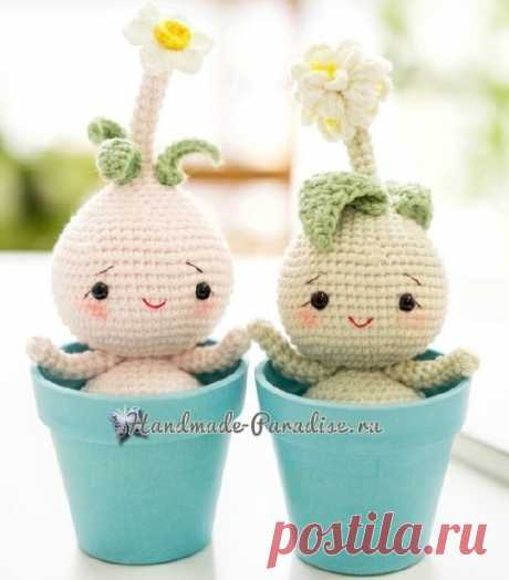 Луковичные цветы - куколки амигуруми - Handmade-Paradise