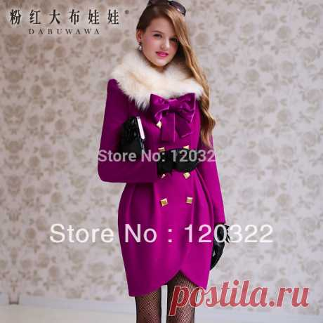 skirt size Picture - More Detailed Picture about DABUWAWA Original New 2014 Brand Winter Thick Purple Wool Fur Collar Formal Casual Skirt Slim Coat outerwear Women Picture in Wool & Blends from PINK DOLL Trade Co.,Ltd | Aliexpress.com | Alibaba Group