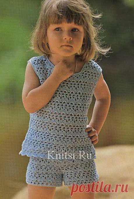 Топ и шорты. Вязание для детей / Детское / Спицами