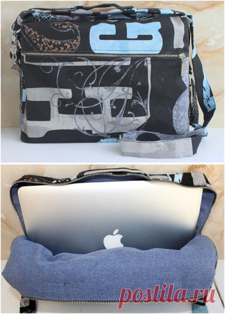 Как сшить сумку для ноутбука (пошаговая инструкция) | 1000 идей для вязания спицами | Яндекс Дзен