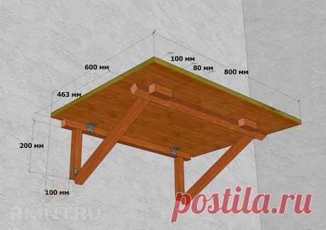 Складной столик на балкон своими руками — Сделай сам, идеи для творчества - DIY Ideas