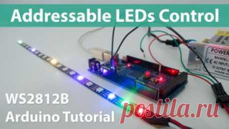 How To Control WS2812B Individually Addressable LEDs using Arduino - HowToMechatronics In this tutorial we will learn how to control individually addressable RGB LEDs or a WS2812B LED strip using Arduino.The LED strip consist of type 5050 RGB LEDs in which the very compact WS2812B LED driver IC is integrated. Depending on the intensity of the three individual Red, Green, and Blue LEDs we can simulate...