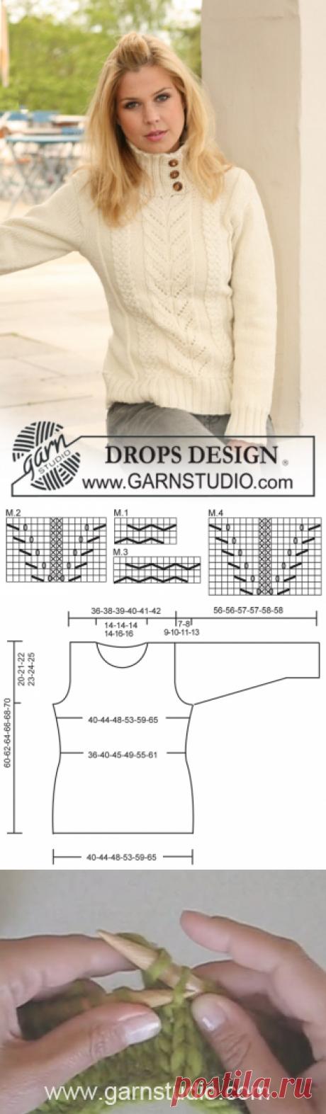 Snowy Branches / DROPS 122-9 - Gratis strikkeopskrifter fra DROPS Design