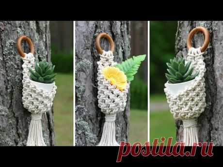 DIY MACRAME POT HANGER | PLANT HANGER | WALL BASKET | PLANT HOLDER - YouTube