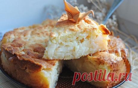 Низкокалорийный овсяный пирог с яблочной заливкой. Невероятно вкусно!