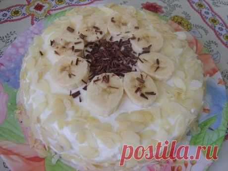 The most tasty banana pie for half an hour