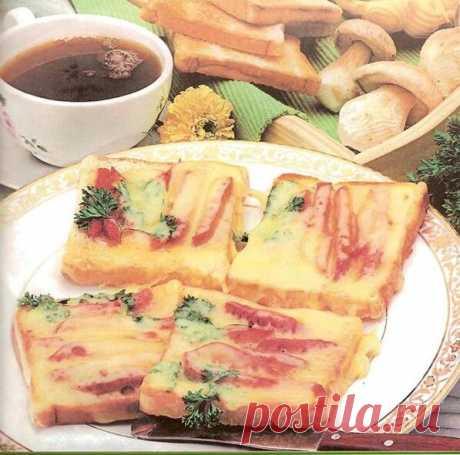 Горячие бутерброды с ветчиной,сыром и яйцом. | Я тебя съем | Яндекс Дзен
