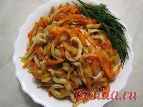 Кальмары по-корейски. Узнал отличный рецепт: просто и вкусно - Вкусные рецепты - медиаплатформа МирТесен