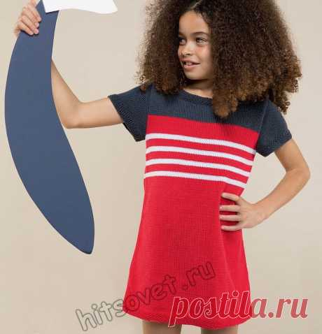 Стильное вязаное детское платье - Хитсовет