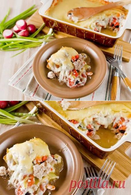 Гратен с овощами и куриным фаршем – рецепт с фото / Простые рецепты