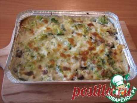 Курица в духовке-с овощами, грибами, в сливках под сыром - кулинарный рецепт