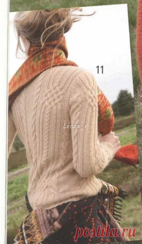 Sweater with Cables by Rebecca Design Team - Rebecca #40