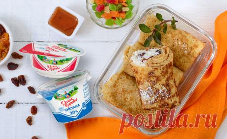 Приготовьте восхитительные блинчики, которыми вы точно приятно удивите всех близких   Готовим #ДомаВкусно с продуктами «Домик в деревне»   Яндекс Дзен