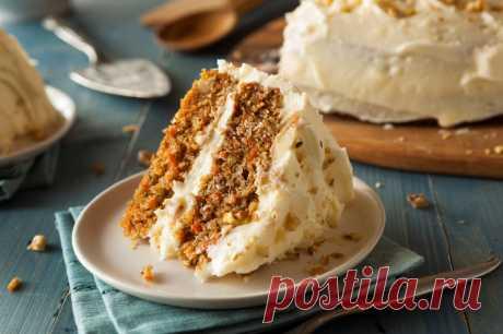Морковный пирог с ванильным кремом